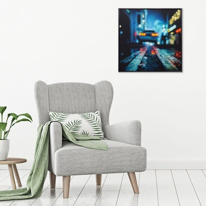 (CreativeWork) Quick Getaway by Todd Simpson. Acrylic Paint. Shop online at Bluethumb.