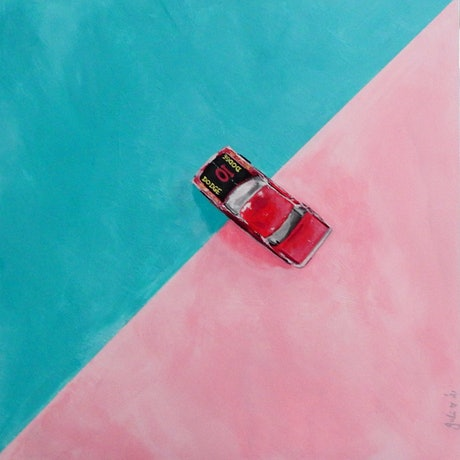 (CreativeWork) 1980 Matchbox Dodge 10 Car by julie hollis. Acrylic Paint. Shop online at Bluethumb.