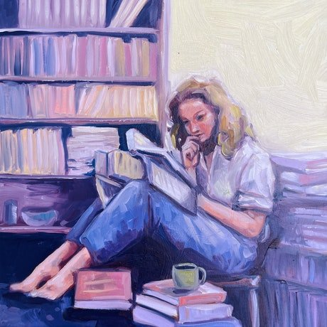 (CreativeWork) Quiet Place   by Clair Bremner. Oil Paint. Shop online at Bluethumb.