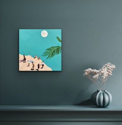 (CreativeWork) Dancing in the Moonlight  by Pip Phelps. Acrylic Paint. Shop online at Bluethumb.