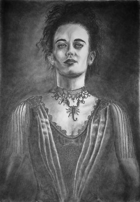 (CreativeWork) Vanessa Ives by Mark Shannon. Drawings. Shop online at Bluethumb.