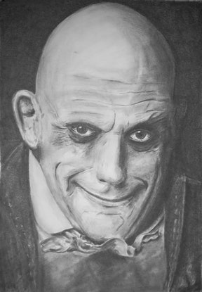 (CreativeWork) Fester Addams by Mark Shannon. Drawings. Shop online at Bluethumb.