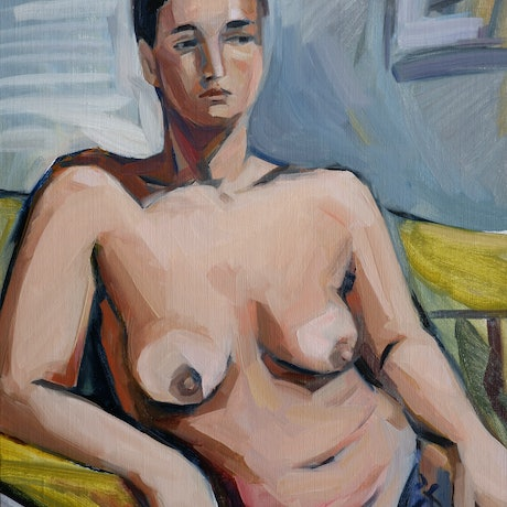 (CreativeWork) Italian nude by Liza Merkalova. Oil Paint. Shop online at Bluethumb.