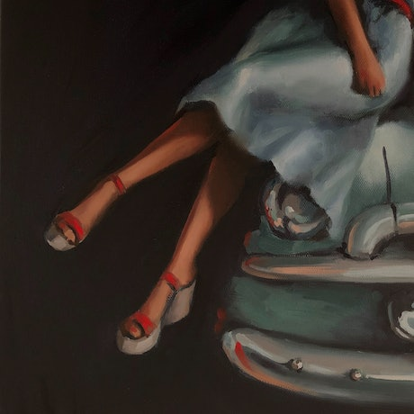 (CreativeWork) RED SHOES II feat. 1956 FJ Holden #3 Ed. 3 of 50 by Rosa Fedele. Reproduction Print. Shop online at Bluethumb.