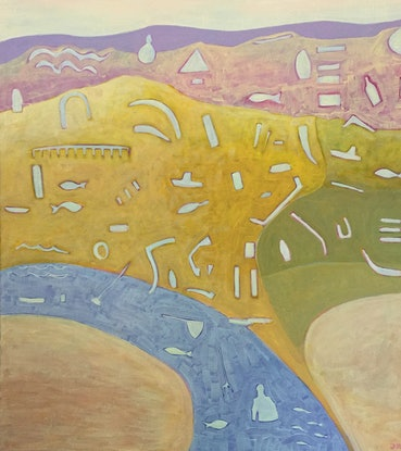 (CreativeWork) ONKAPARINGA RIVER by dave Hearne. Acrylic Paint. Shop online at Bluethumb.