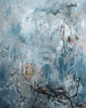(CreativeWork) Sargasso Sea  by Christine Scurr. Acrylic Paint. Shop online at Bluethumb.