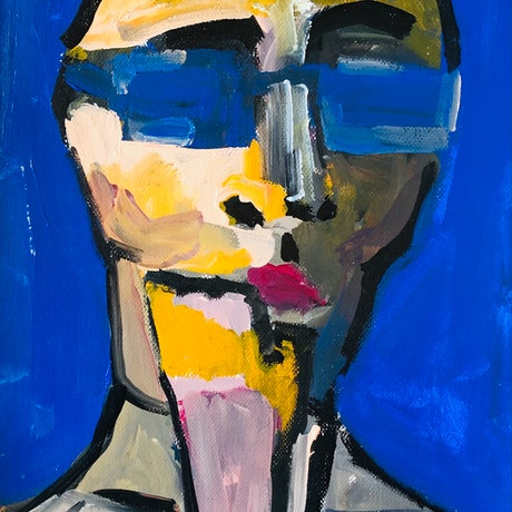 (CreativeWork) Too cool by Sharon Monagle. Acrylic Paint. Shop online at Bluethumb.