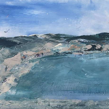 (CreativeWork) Port Elliot - South Australia by Tina Barr. Acrylic Paint. Shop online at Bluethumb.