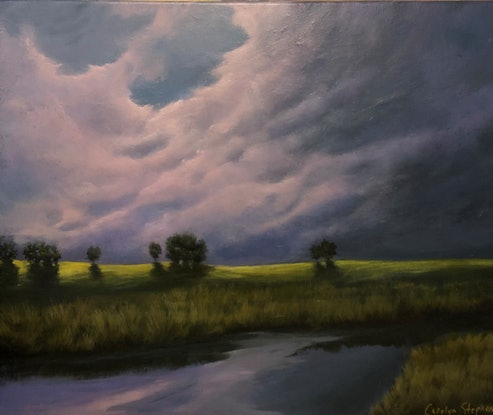 (CreativeWork) Gloaming by Carolyn Stephens. Acrylic Paint. Shop online at Bluethumb.