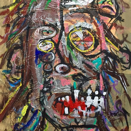 (CreativeWork) Self Portrait  by Dominic White. Mixed Media. Shop online at Bluethumb.