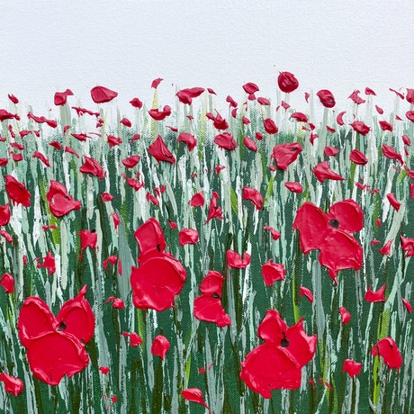 (CreativeWork) Poppies 08 by Kerry Leigh. Acrylic Paint. Shop online at Bluethumb.