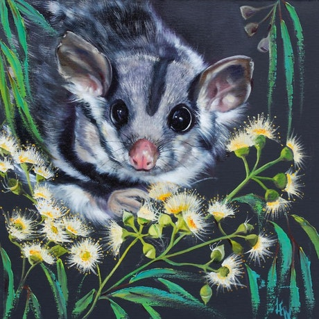 (CreativeWork) Little Blossom by Lesley Rosochodski. Oil Paint. Shop online at Bluethumb.