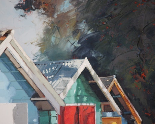Colourful boat sheds