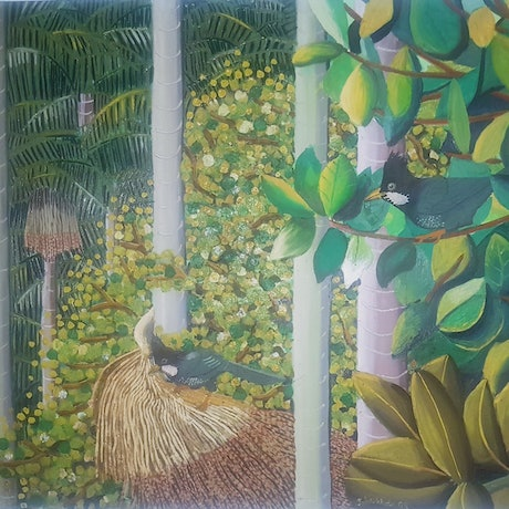 (CreativeWork) Whipbirds by John Wade. Oil. Shop online at Bluethumb.