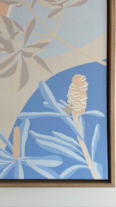 (CreativeWork) A Walk Down The Beach by Kirsty Cargill. Acrylic Paint. Shop online at Bluethumb.