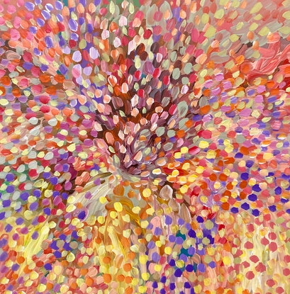 (CreativeWork) Spring Bliss  by Theo Papathomas. Acrylic Paint. Shop online at Bluethumb.