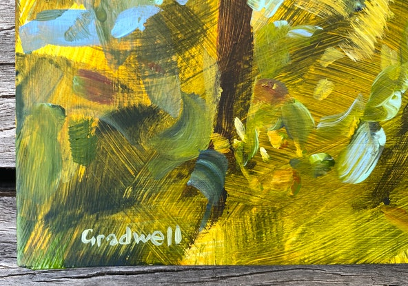 (CreativeWork) The Lookout by Kate Gradwell. Acrylic Paint. Shop online at Bluethumb.