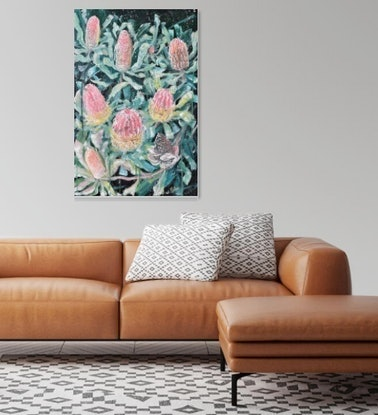 (CreativeWork) Let's Make A Wish - Banksia Menziesii  by HSIN LIN. Acrylic Paint. Shop online at Bluethumb.
