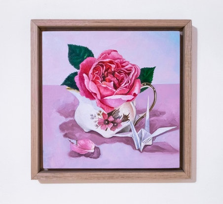 (CreativeWork) Rose Jug by Melissa Ritchie. Oil Paint. Shop online at Bluethumb.