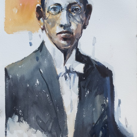 (CreativeWork) Igor Stravinsky by T. B. Watercolours. Watercolour Paint. Shop online at Bluethumb.