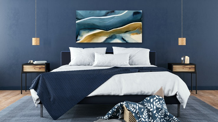 (CreativeWork) Aegean 1  by Dinah Wakefield. Acrylic Paint. Shop online at Bluethumb.