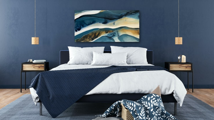 (CreativeWork) Aegean 2 by Dinah Wakefield. Acrylic Paint. Shop online at Bluethumb.