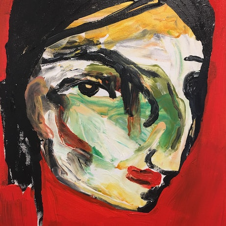 (CreativeWork) Clara by Kate Rogers. Acrylic Paint. Shop online at Bluethumb.