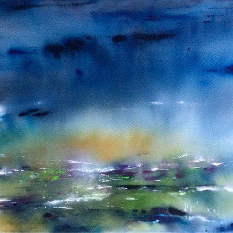 (CreativeWork) Open and Windswept by Grace Bardini. Watercolour Paint. Shop online at Bluethumb.