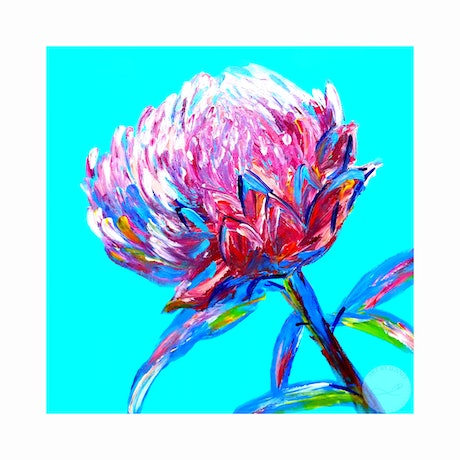 (CreativeWork) Happy days - Abstract fingers painting , colorful bloom  Ed. 1 of 50 by Ilanit Vanu. Print. Shop online at Bluethumb.