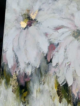 (CreativeWork)  XL Lychee & Coconut Gelato  by Lisa Wisse-Robinson. Mixed Media. Shop online at Bluethumb.