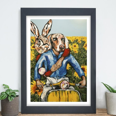 (CreativeWork) They were a special duo (Print) by Gillie and Marc Schattner. Print. Shop online at Bluethumb.