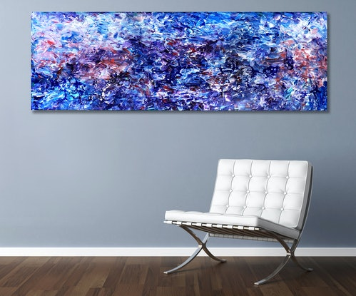 (CreativeWork) Ancient Panorama  by Estelle Asmodelle. Acrylic Paint. Shop online at Bluethumb.