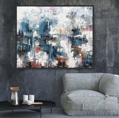 (CreativeWork) *ON SALE* Salerno by Melanie Crawford. Acrylic Paint. Shop online at Bluethumb.