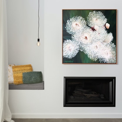 (CreativeWork) Blossoms II by Cath Knijnenburg. Acrylic Paint. Shop online at Bluethumb.