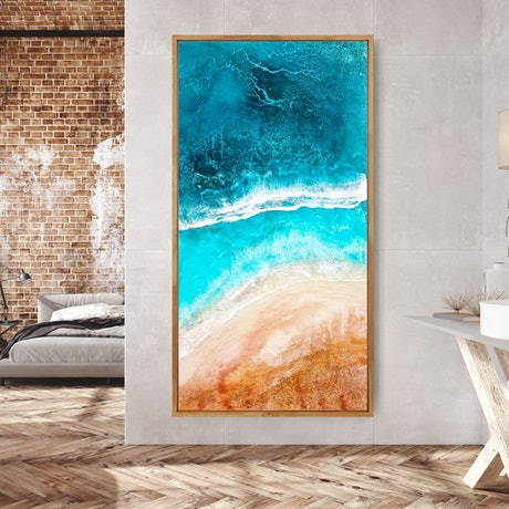 (CreativeWork) Three Oceans I by Emiley Rose. Mixed Media. Shop online at Bluethumb.