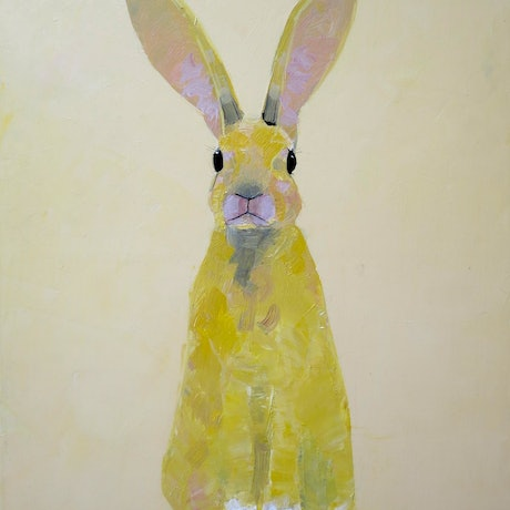 (CreativeWork) Golden Rabbit - in oil paint on canvas! by John Graham. Oil Paint. Shop online at Bluethumb.