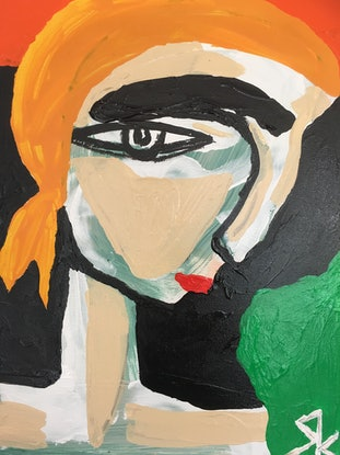 (CreativeWork) Willemina Frustenberg by Kate Rogers. Acrylic Paint. Shop online at Bluethumb.
