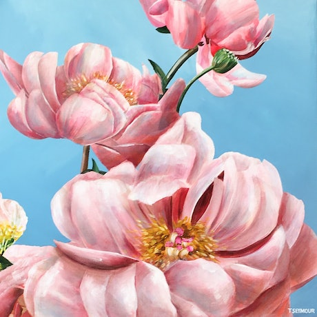 (CreativeWork) PINK PASSION by Treena Seymour. Acrylic. Shop online at Bluethumb.