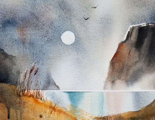 (CreativeWork) Daydream by Anastasia Mily. Watercolour Paint. Shop online at Bluethumb.
