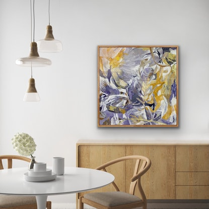 (CreativeWork) Tangle and Bloom by Bronwyn Barton. Acrylic Paint. Shop online at Bluethumb.