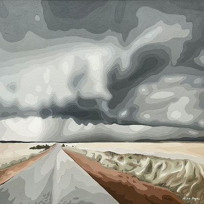 (CreativeWork) Country Road by Alina Hayes. Acrylic. Shop online at Bluethumb.