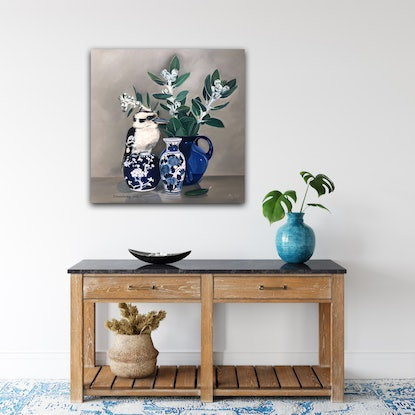 (CreativeWork) Statuesque - Stretched canvas print Ed. 1 of 150 by Mia Laing. Print. Shop online at Bluethumb.