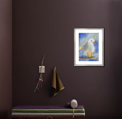 (CreativeWork) Seagull by Margie Langtip. Oil Paint. Shop online at Bluethumb.