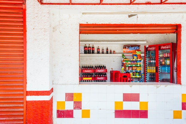 (CreativeWork) Mexican shop Ed. 3 of 40 by Neil Hendry. Photograph. Shop online at Bluethumb.