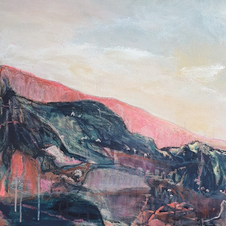 (CreativeWork) Sunset at the Cathedral Ranges  by Jacinta Payne. Mixed Media. Shop online at Bluethumb.
