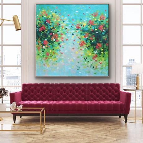 (CreativeWork) An Eternity With You - Framed in oak - 180cm x 180cm  by Belinda Nadwie. Oil Paint. Shop online at Bluethumb.