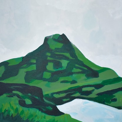 (CreativeWork) Mountain Study by Brianna Gittos. Acrylic Paint. Shop online at Bluethumb.