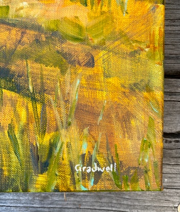 (CreativeWork) The Lookout II by Kate Gradwell. Acrylic Paint. Shop online at Bluethumb.