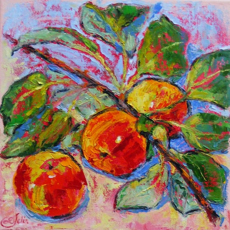 "(CreativeWork) ""Sweet and Crunchy 2"" by Daniela Selir. Oil Paint. Shop online at Bluethumb."