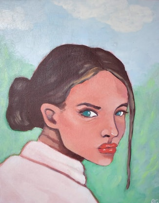 (CreativeWork) On The Hill by Brianna Gittos. Oil Paint. Shop online at Bluethumb.